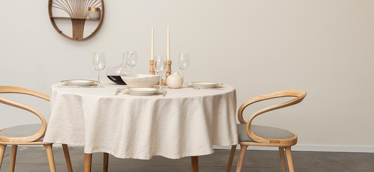 מפה לשולחן עגול – דגם Biella